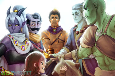 DnD - Our Group by Torheit-Skadi