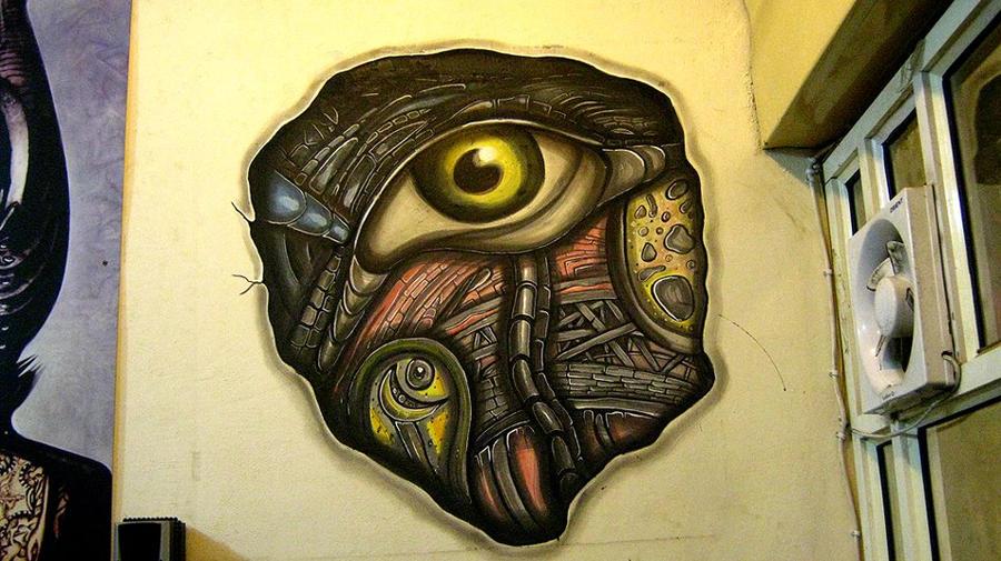 schedel eye wall art by Deepakshishodia