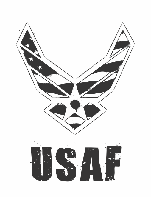 USAF Logo - Black and White by fezbeast on DeviantArt