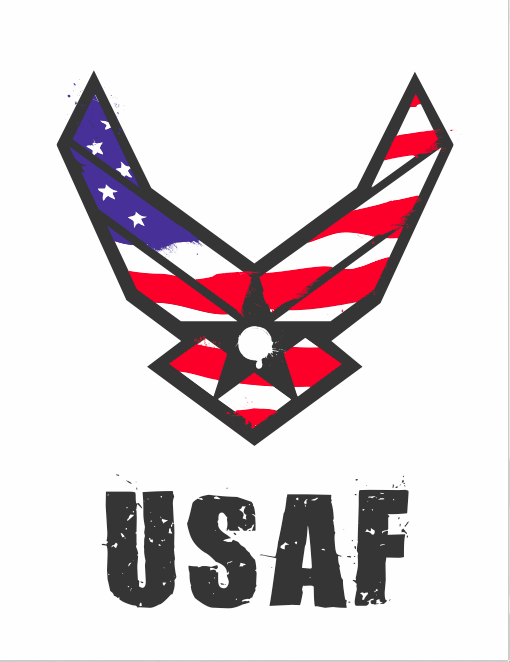 Usaf Logo Wallpaper Usaf logo - colored by