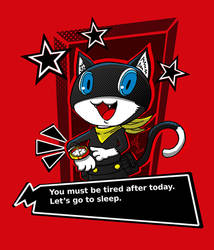 Lets's go to sleep! Morgana from Persona 5 by AlexRoivas