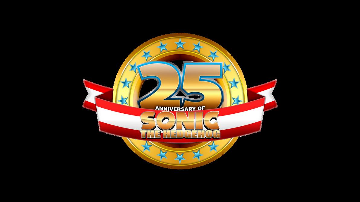 25th anniversary of sonic custom logo by mauritaly on 25 Anniversary Logo 25th Work Anniversary Clip Art