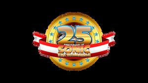 25th Anniversary of Sonic - Custom Logo by Mauritaly
