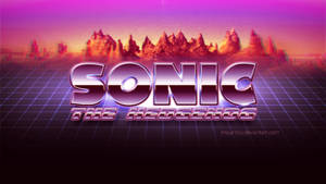 Sonic The Hedgehog: Retrowave Style Logo by Mauritaly