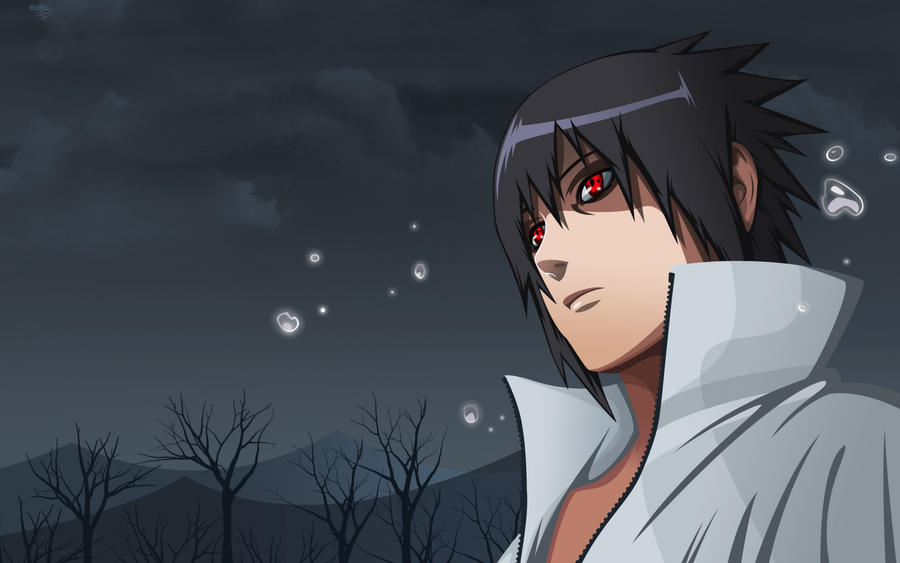 Sasuke Mangekyou Sharingan At Night Wallpaper By TheAvengerX