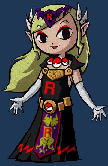 Team Rocket Admin: Toon Zelda by JosValEDez on DeviantArt