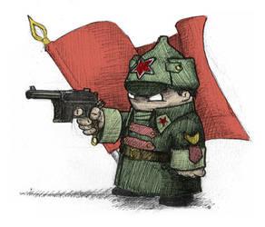 Red star doodle by de-alex