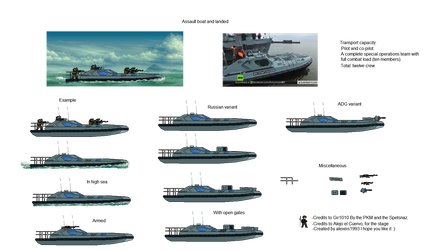 Assault boat and landed
