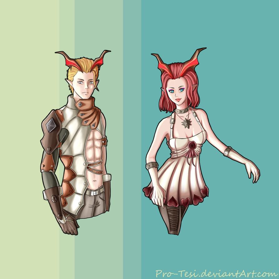 Nidara and Zephit by Pro-Tesi