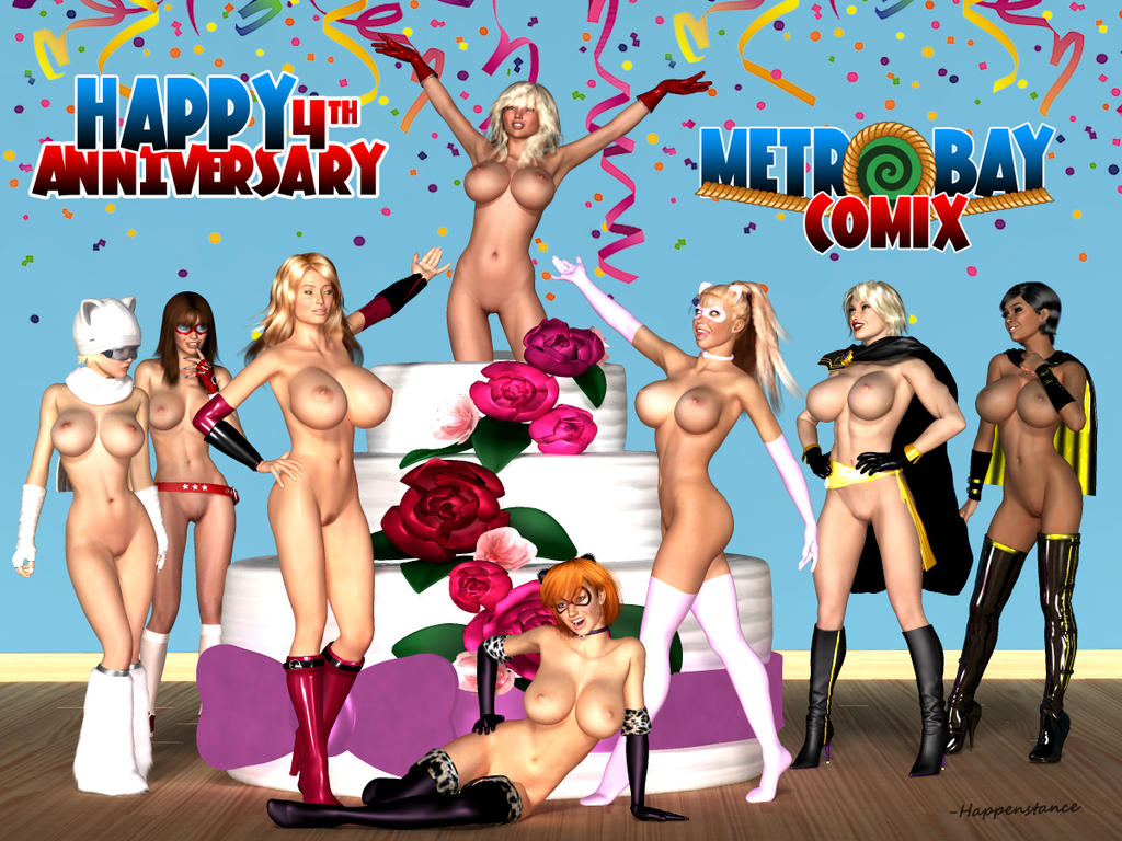 Metrobay Comix 4th Anniversary - Birthday Suits by Happenstance6