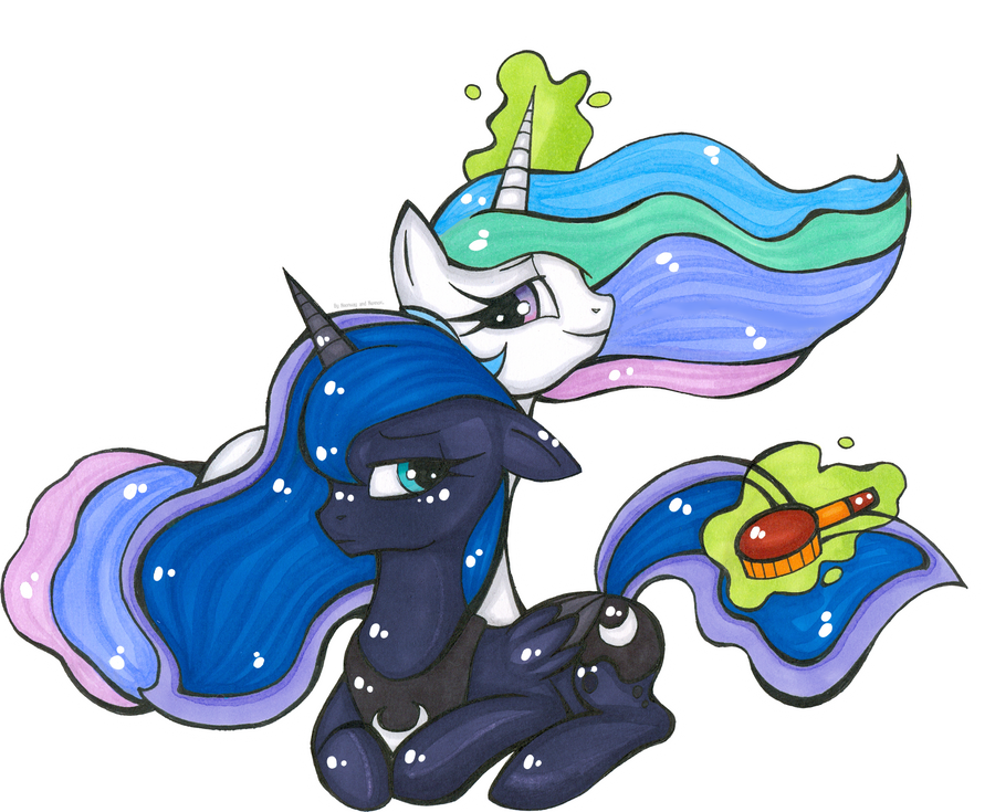 Collab:Luna and Celestia by Nexnox