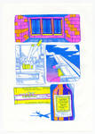 packet of cigarettes risograph