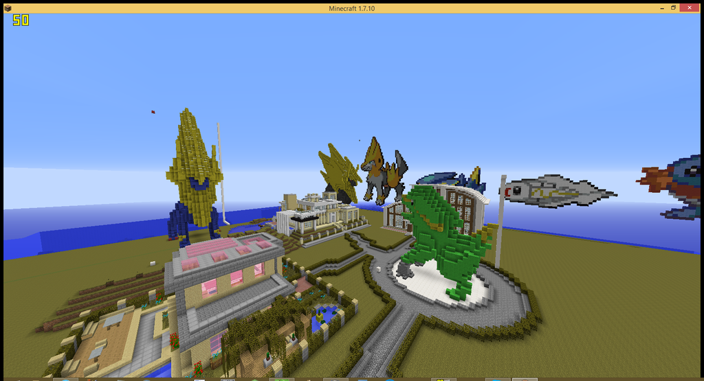 Minecraft Landscape Screenshot
