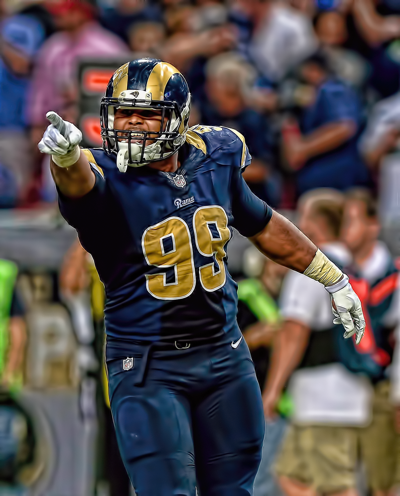 Aaron Charles Donald born May 23 1991 is an American football defensive end for the Los Angeles Rams of the National Football League NFL He played college