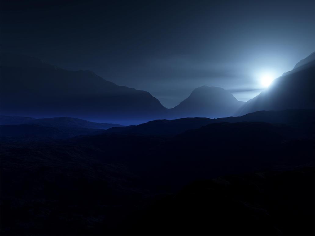 BlueMist Mountains by WraithRealm