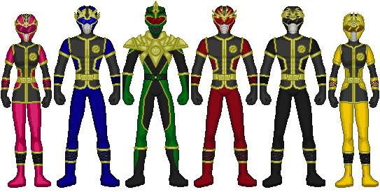 HMRverse- Dark Thunder Rangers by heavenlymythicranger
