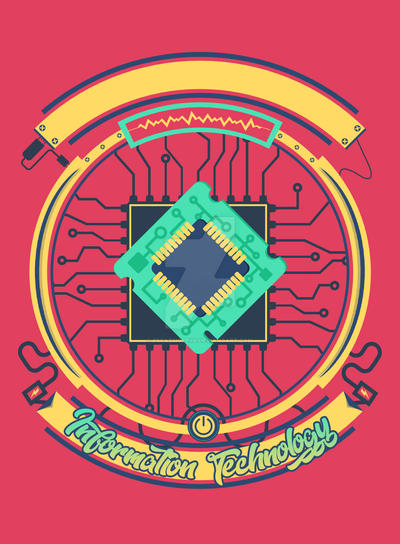 Information Technology Tshirt Design by PSCassiopeiia