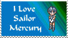I love sailor mercury stamp by princessfromthesky