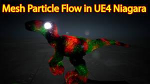 Mesh Particle Flow Unreal Engine Niagara Tutorial