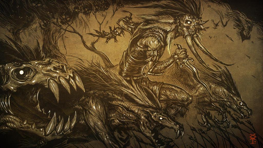 Diablo 3 Witch Doctor Fanart by Akiman