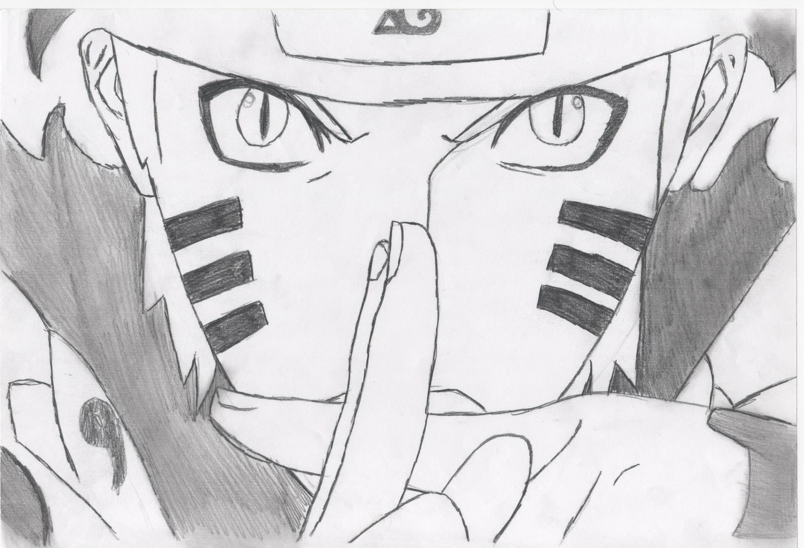 Naruto Bijuu Mode :) by Ampfullyy on DeviantArt
