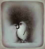 Melancholic Hedgehog by Anuk