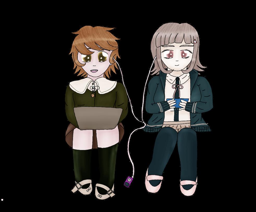 Chihiro and Chiaki by hawkon101