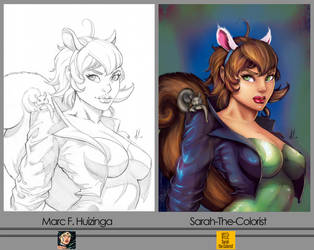 Squirrel Girl Side-By-Side by Sarah-The-Colorist