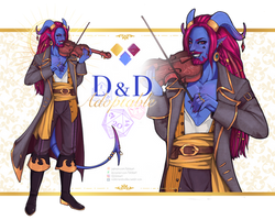 ADOPT AUCTION #6: DnD Tiefling (OPEN!) by lokiisart