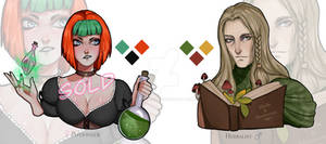 ADOPT AUCTION: Potioneer and Herbalist (1/2 OPEN!) by lokiisart
