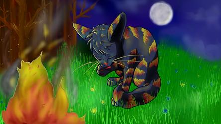 A Fire's Glow by kittyhoneydew5