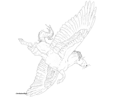Brabant Pegasus Line Art [FREE]