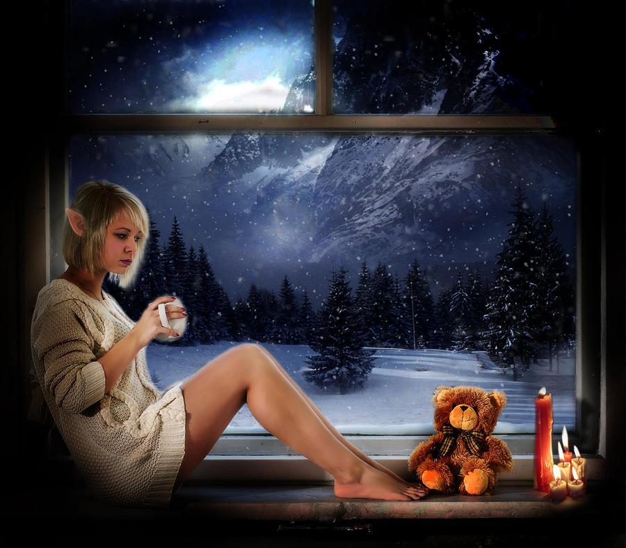 Winter Elf by rackelstar