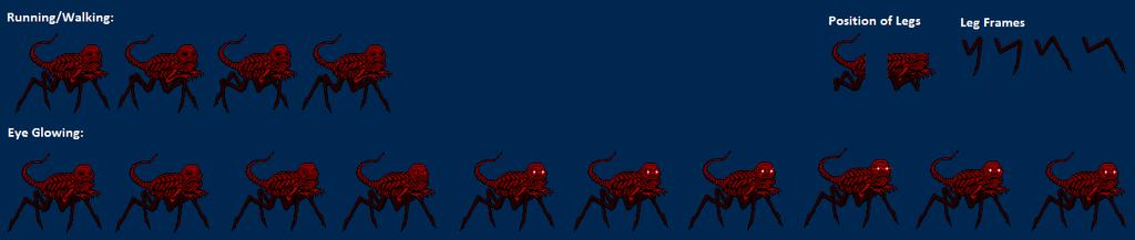 red godzilla nes creepypasta sprite sheet by
