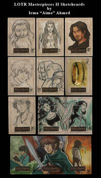 LOTR MII Sketchcards
