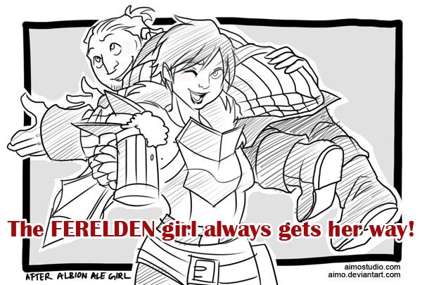 DA2 - Ferelden Ale Girl by aimo