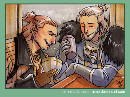 PSC - Varric and Anders by aimo