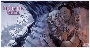 Dragon Age Valentines 2013 - Hawke x Fenris by aimo
