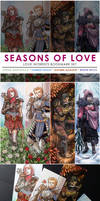 SEASONS OF LOVE Bookmark Set