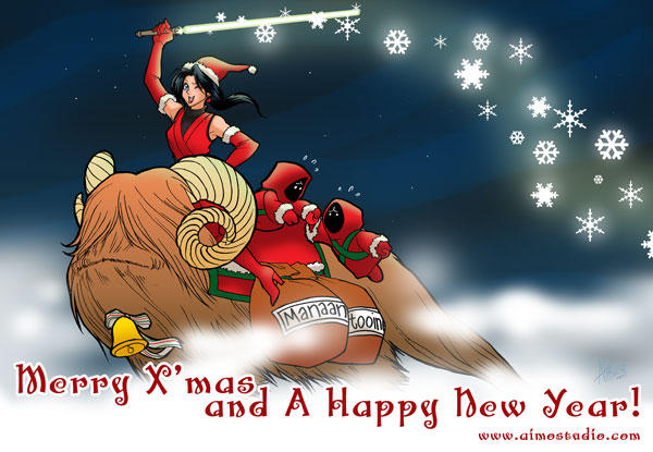 Xmas greetings by aimo on deviantart m4hsunfo