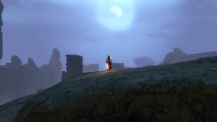 Foggy Moon over the Maguuma Wastes by WannaFantaMan