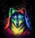 Painting Colorful Wofl 3D
