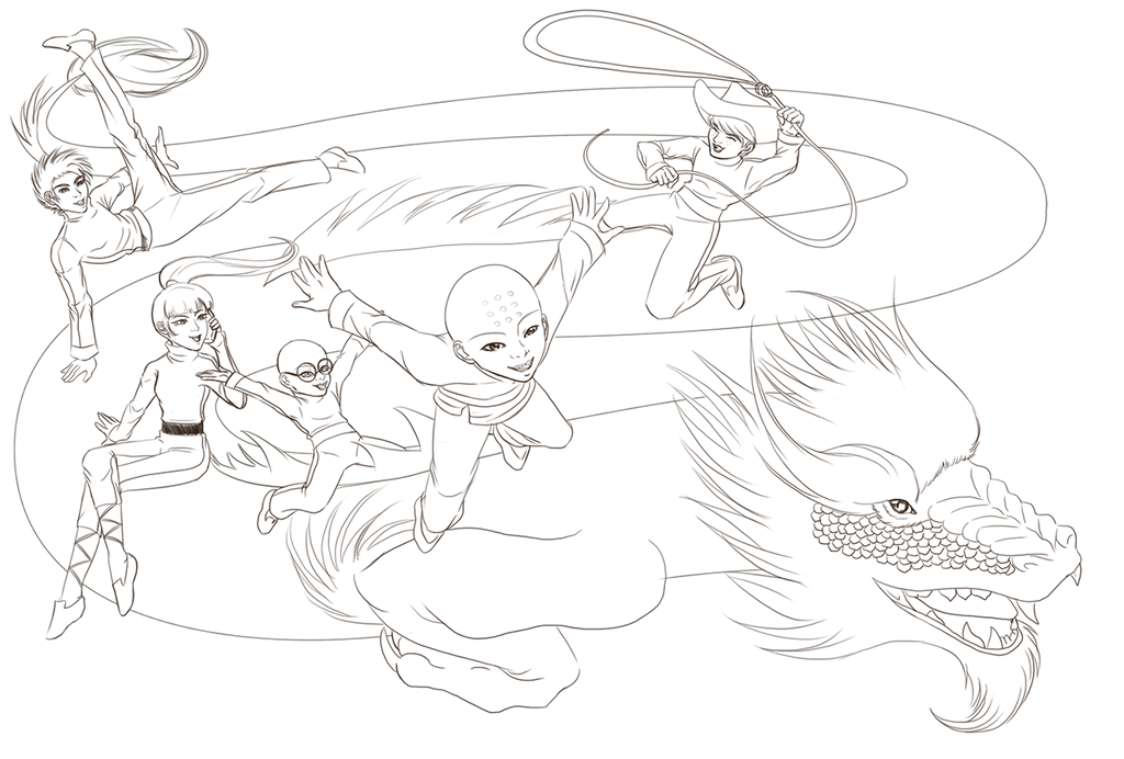 xiaolin showdown coloring pages - photo#17