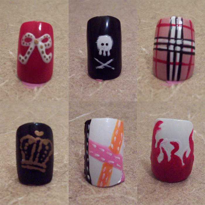 Variety Of Nail Art By Yours Truly: 6 Different Types Of Nails By CourtHouse On DeviantArt