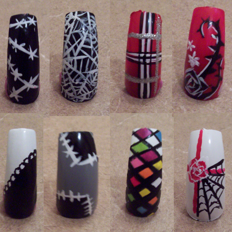 Variety Of Nail Art By Yours Truly: 8 Different Types Of Nails By CourtHouse On DeviantArt