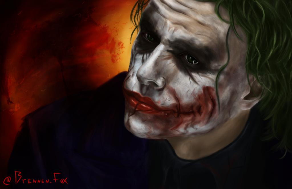 Joker - Heath Ledger by Brennen-Fox
