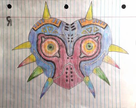 Majora's mask colored pencil