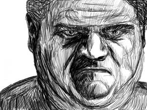 Tablet sketch: Large Angry Man