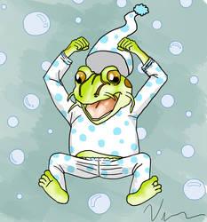 Frog's Pija's party (Wriga's avatar) by JulieKupo