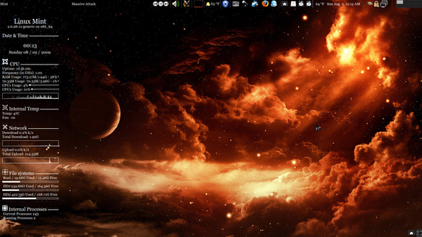 My Linux Desktop Screenshot by Helix-the-II